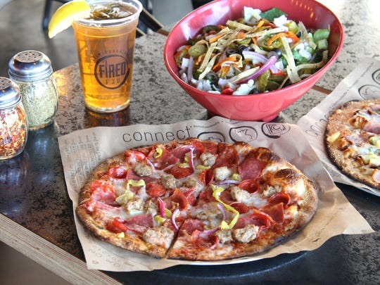 Build your own pizza and salad at Fired Pie.