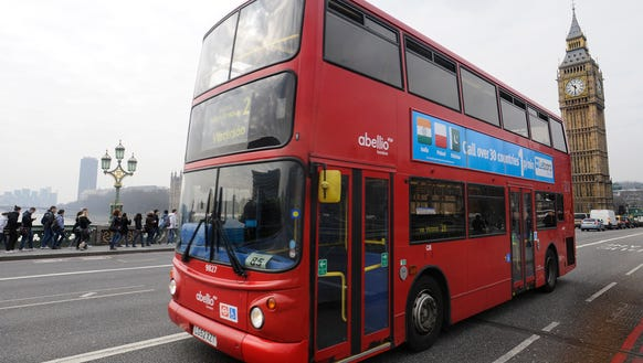 Double decker busses still are a common sight in the