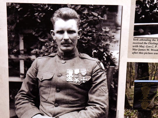 An exhibit about Sgt. Alvin York opens Saturday at the Museum of East Tennessee History. The medals shown in this photo of York are the Medal of Honor, the Distinguished Service Cross and the French Croix de Guerre.