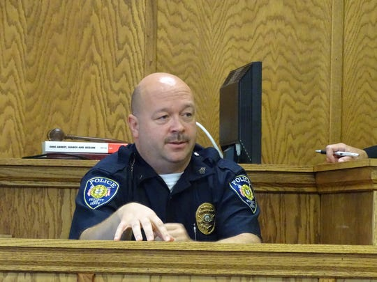 Clyde Police Detective Sgt. Monti Campell testifies against Royce Jewell.