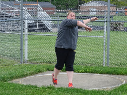 Ridgewood sophomore Taylor Haarman will throw the discus