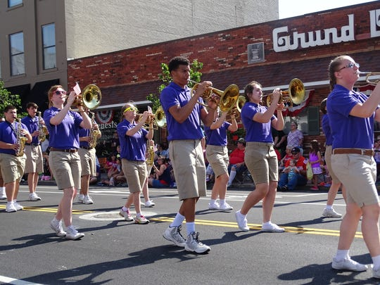 Fremont Ross High School's Marching Little Giants performed Monday at the city's annual Memorial Day Parade. The parade went through downtown Fremont along Front Street.