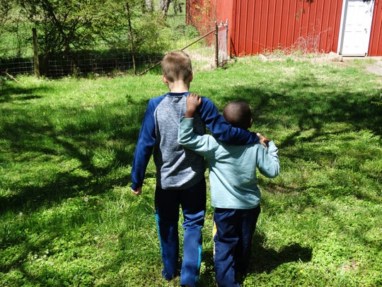 Happy brothers, Knox and Ezra Rosser are nearly inseparable.