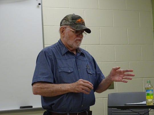 Welding instructor Bill McCleese teaches area students about the dangers of welding and how to properly use tools to remain safe.