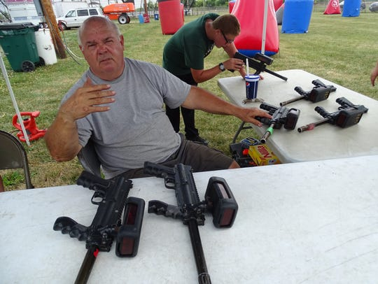 Gary Gould, of Red Dragon Laser Tag in Hamersville,