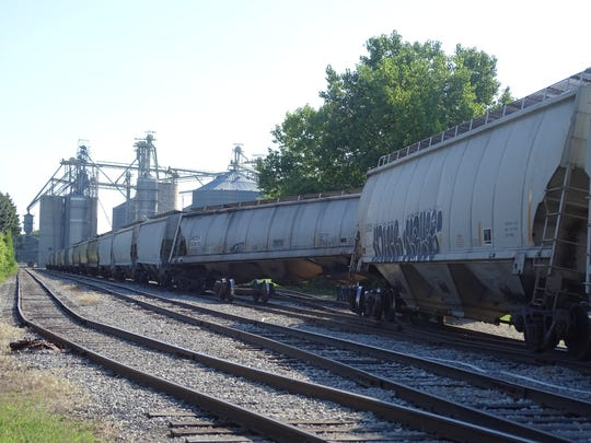 Two rail cars derailed while heading through Clyde towards the grain elevator at Sunrise Cooperative. There were injuries reported.