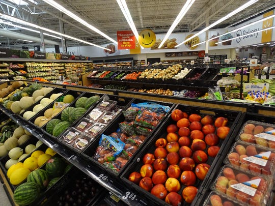 Customers shopping at the newly remodeled Wal-Mart in Fremont will be greeted by better lighting and a new open floor plan in produce.