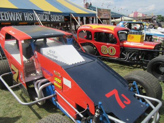 Here are some of the Flemington Speedway cars displayed at the 2015 Hunterdon County 4-H and Agricultural Fair.