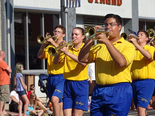 Clyde High School's marching band took part in Monday's Labor Day parade in downtown Fremont.