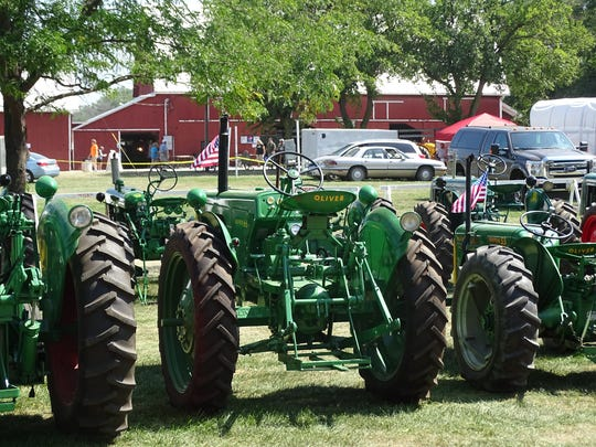 Visitors to the weekend's S.C.R.A.P. Antique Tractor and Engine Show got to see hundreds of antique tractors. The annual event — in its 28th year — was held at Gibsonburg's White Star Park.
