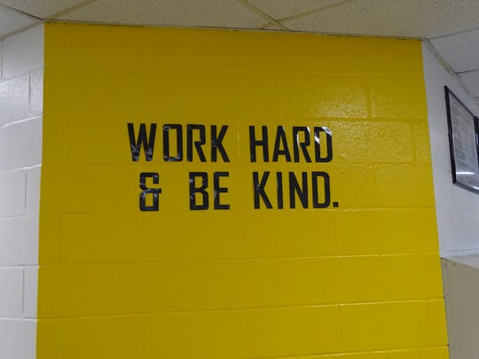 Woodmore High School now has inspirational quotes on several of its walls. The quote are among the improvements by Principal Jim Kieper and counselor Andrew Hemminger over the summer at the school.