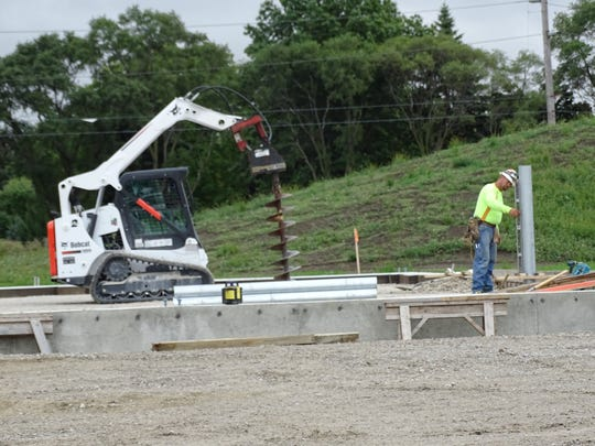 Mosser Construction, of Fremont, continues work on the new larger and more modern and efficient Ohio Department of Transportation facility.