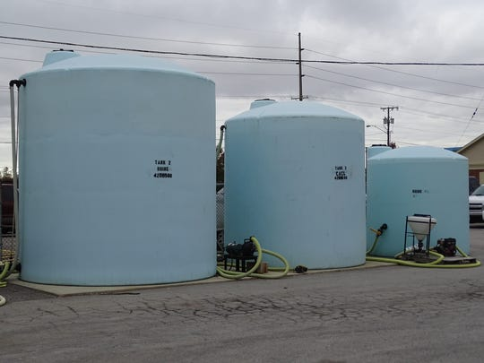 Brine and calcium tanks used to treat roadways in Sandusky and Ottawa counties.