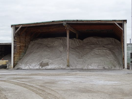 The Ohio Department of Transportation's Fremont office has 4,200 tons of salt ready to treat roads in Sandusky County.