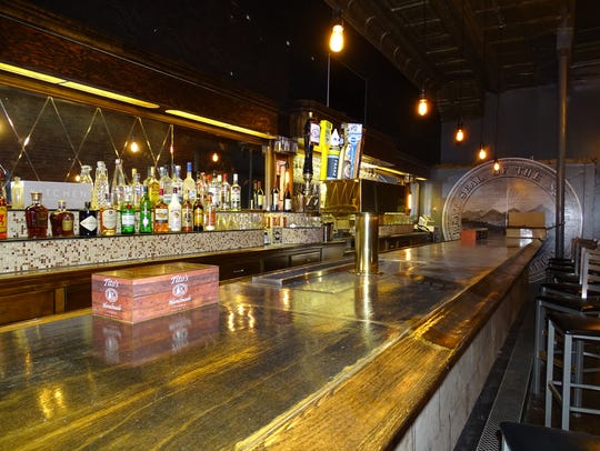 The refinished bar at R Kitchen on Paint. The restaurant