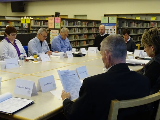 During a special meeting Thursday, the Fremont board of education and its business advisory committee agreed on a scaled-back option on a bond levy that would build four elementary schools, a new high school and auditorium.