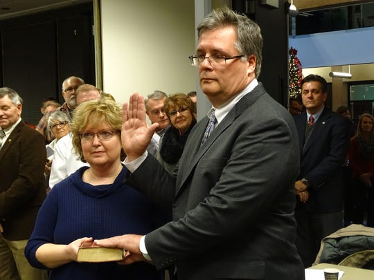 Sandusky County Prosecutor Tim Braun is sworn in Dec.