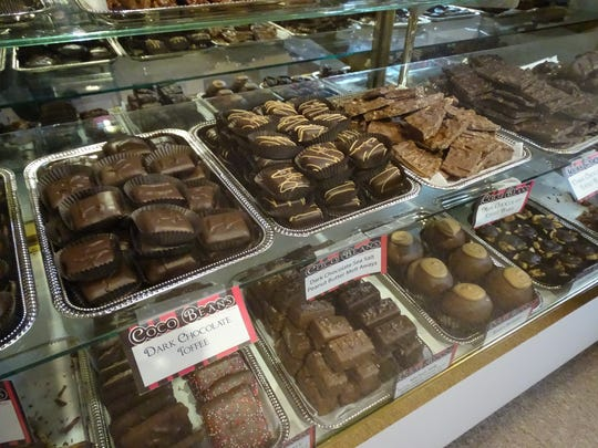 Chocolate indulgences at Coco Beans include buckeyes and salted caramel, two top-selling items that can be boxed for Valentine's Day gifts.