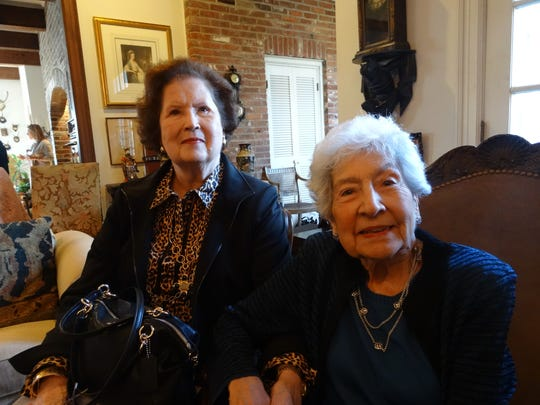 Lillian Gentry and Rosemary Luffey at Potpourri Book Club.