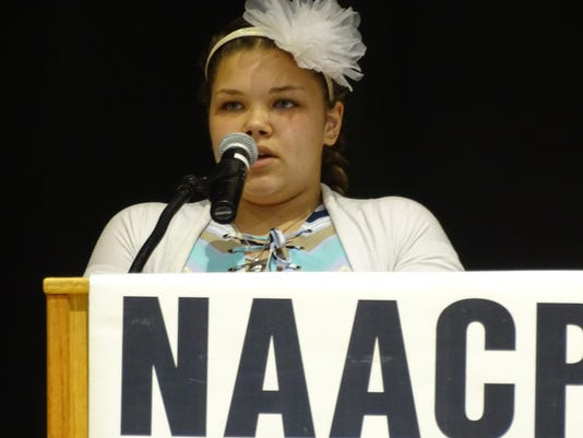Students speak at NAACP oratory contest