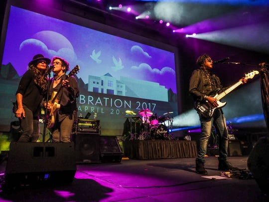The Revolution performs in the Paisley Park Soundstage
