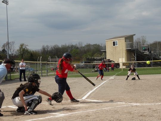 Adding to her Livonia Franklin hits record with this
