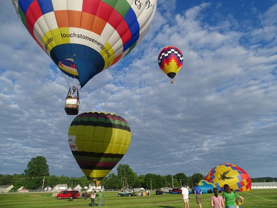 Hot air balloons will take to the sky this weekend