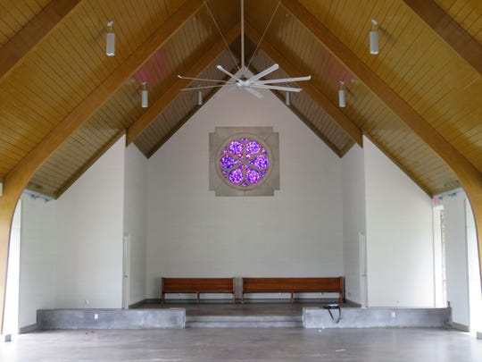 The inside of Marble Hall, the former chapel at Lakeshore Park
