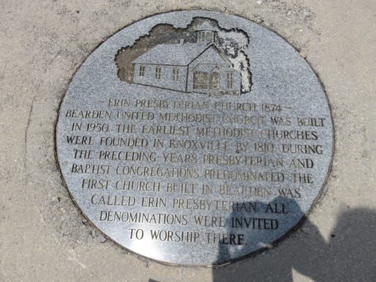 The history of Bearden United Methodist Church can be found in a marker located on the church grounds.