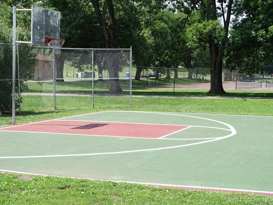 The basketball court nearest the floodwall in Yoctangee