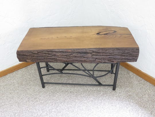 A few pieces of handmade wood furniture by Wade Hall