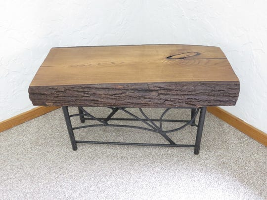 A few pieces of handmade wood furniture by Wade Hall of Rogersville, owner of Tree Frog Custom Furniture, will be shown in conjunction with Kalimat's paintings.