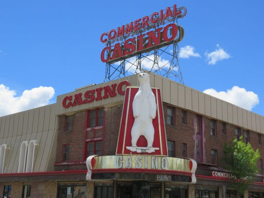 "The Commercial Casino in Elko houses a taxidermied polar bear known as ""The White King."""
