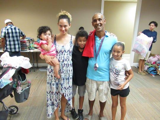 The Nunez family including a 5th-grader, 3rd-grader