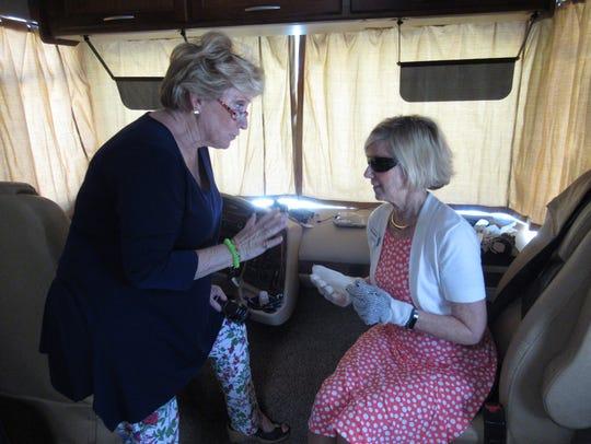 Left, Peggy Cunningham, executive director of the Alzheimer