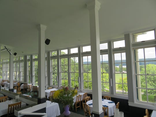 The porch at the Inn at Taughannock, which was recently