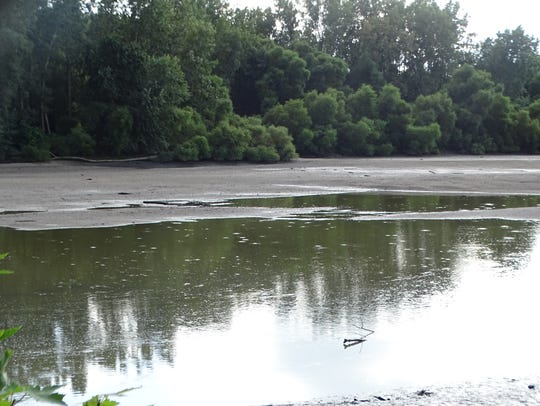 The Sandusky River has receded in the Fremont area
