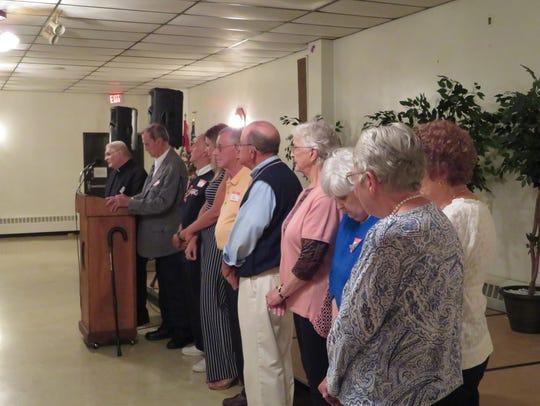 Charlie Henneman, 78, of Vestal, thanked all the volunteers