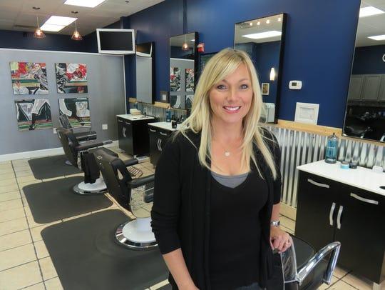 Lori Headley inside her Split Finger Grooming Lounge
