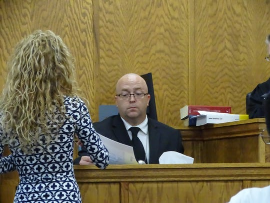 Assistant Sandusky County Prosecutor Rachel Dewey shows