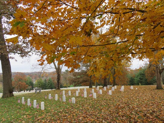 The East Tennessee State Veterans Cemetery off Lyons View Pike is wrapped in fall colors in recent days.