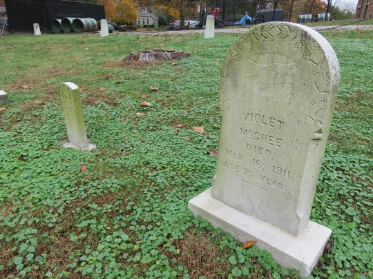This is among a small number of marked graves for former patients of the predecessor facility of Lakeshore Mental Health Institute.