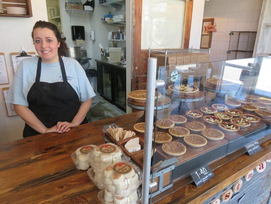 Buttermilk Sky Pie Shop manager Taylor Jones with her