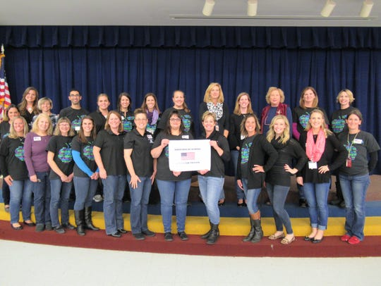 Jeans for troops funds raised by Elementary teachers.