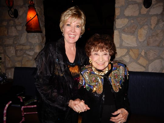 (left to right) Sharon Dihaworth with Dorothy Goldstein.