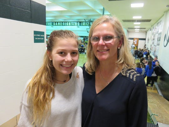 Casey Collier, left, and mom and Webb coach, Shelley