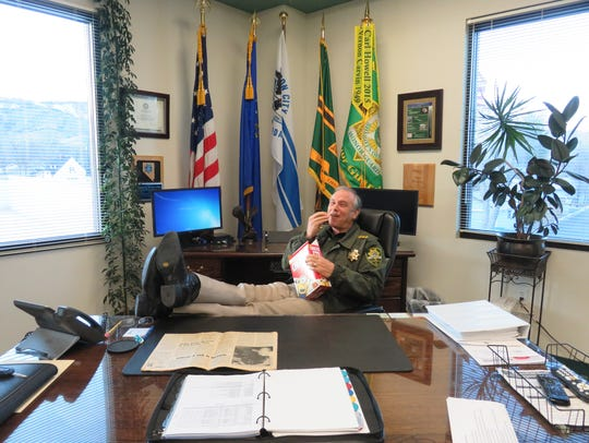 Sheriff Kenny Furlong of Carson City talked with the