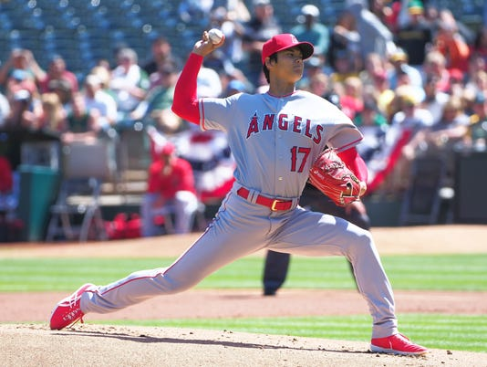 USP MLB: LOS ANGELES ANGELS AT OAKLAND ATHLETICS S BBA OAK LAA USA CA