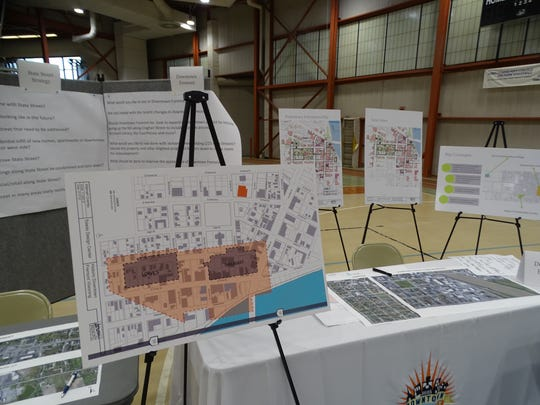 "Residents got a look at the city's State Street Strategy through these posters displayed at the city's ""charette sessions,"" held at Terra State Community College."