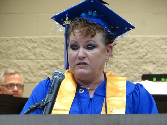 Rhonda Rose of Tiffin served as the student speaker